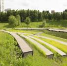 Терраса в парке Олимпийской деревни 10